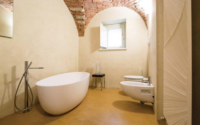 bagno privato in resina